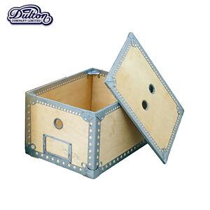 【ウッデンボックス S】 WOODEN BOX (S) 無骨で飾り気が無い だからそそられる 箱 収納 倉庫 書類入れ 整理箱 マルチボックス 蓋付き 収納ボックス 道具入れ アンティーク 木目調 北欧 お洒落