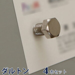DULTON ダルトン 『ボルトマグネット 4個セット Bolt magnet set of 4』 磁石 マグネット ボトル型マグネット メモクリップ ポストカードクリップ 葉書クリップ はがきクリップ 文房具 事務用品 オ