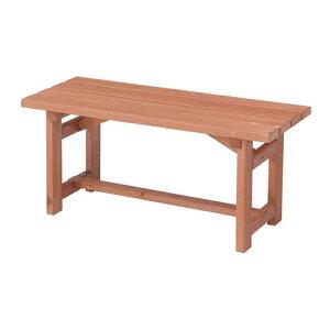天然木 ガーデンベンチ 90cm ベンチ 長椅子 長イス ベンチチェア ガーデンチェア ガーデンチェアー 木製 ベランダ テラス シンプル 縁側 背もたれ無し コンパクト 小型 ガーデンファニチャー