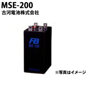 【受注生産品】 古河電池 『古河電池 MSE-200 御弁式据置鉛蓄電池(バッテリー) 2V 200Ah』 おすすめ バッテリー 蓄電池 インバータ MSE200 制御弁式据置鉛蓄電池 MSE 非常照明 操作 制御 計装用