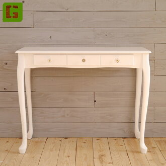 Desk width 90 cm console table desk desk flower phone-FAX-ornament Clawfoot white white wood shelf display table helpful table side tables stylish natural French country antique babe cute Princess