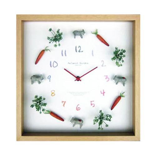 『 ラブリィ Animal Clock 掛け時計 』掛時計 掛時計 壁掛時計 壁掛け時計 アートクロック インテリアクロック アートパネル アニマル モダン おしゃれ かわいい 子供部屋 秒針なし ほとんど音がしない ガラス 人形 四角 引っ越し祝い プレゼント