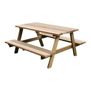 『レッドシダーピクニックテーブル』 ガーデンテーブル ガーデンテーブルセット ピクニックテーブル ガーデンテーブルベンチセット システムデッキ 4人掛け 屋外 木製 おしゃれ テーブル