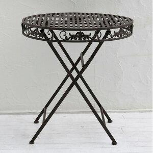 『アイアンテーブル70』 テーブル ガーデンテーブル アイアンテーブル 庭用テーブル 屋外テーブル カフェテーブル ガーデンファニチャー 丸テーブル エクステリアテーブル アイアン ホワイ