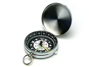 【メール便配送可能】コンパス 方位磁石 方位磁針 G-452 和文字表示 クリアー光学