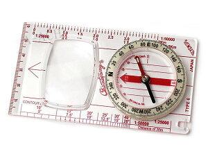 【メール便配送可能】コンパス 方位磁石 方位磁針 ルーペ付 G-504N 日本製 クリアー光学