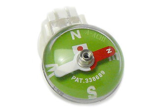 【メール便配送可能】コンパス 方位磁石 方位磁針 蓄光 クリップ GCP-50グリーン 日本製 クリアー光学