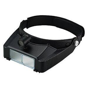 頭に付けるLEDライト付きメガネ型ヘッドルーペ 拡大鏡 3.5倍 LH-115D 日本製 クリアー光学