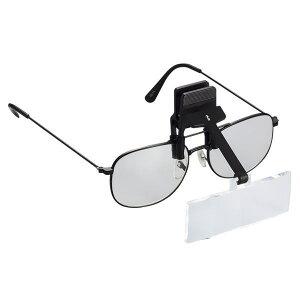 メガネに付けるクリップルーペ 拡大鏡 3倍 LH-20C 日本製 クリアー光学