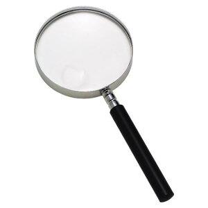ルーペ 日本製 1.8倍 115mm 高倍率4倍小玉レンズ付 アクリルレンズ ハンドルーペ 手持ち 拡大鏡 虫眼鏡 虫めがね 天眼鏡 高級カナ枠フレーム 新聞 読書 辞書 老眼鏡いらずの虫メガネ 母の日 父