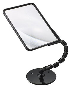[2個入りまとめ買い]ルーペ 拡大鏡 スタンド 1.8倍 大きい フレンネル 虫眼鏡 CF-140 日本製 クリアー光学