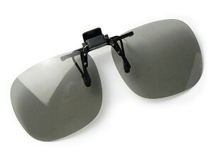 偏光サングラス 調光サングラス クリップオン 跳ね上げ 高性能 偏光度 99% UVカット 偏光レンズ メガネにつける 釣り ドライブ 前掛け M-Lサイズ 大きめ スモーク調光偏光