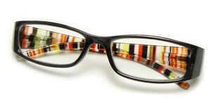 老眼鏡 おしゃれ 強度数 +4.5 +5.0 +6.0 メガネケース付 CK-602強度ストライプ