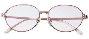 老眼鏡 強度数 +4.5 +5.0 シニアグラス おしゃれ メガネケース付 女性用 ピンク