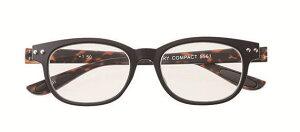 [度無し・弱度+0.5も有り]老眼鏡 PCメガネ パソコン用 おしゃれ ウエリントン メガネケース付 男性用 女性用 ブラック デミ