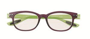 [度無し・弱度+0.5も有り]老眼鏡 PCメガネ パソコン用 おしゃれ ウエリントン メガネケース付 男性用 女性用 パープル グリーン