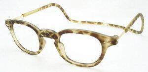 老眼鏡 首かけ 正規品 クリックリーダー ヴィンテージ 磁石 おしゃれ メガネケース付 ライトトートイス/マット