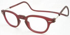 老眼鏡 首かけ 正規品 クリックリーダー ヴィンテージ 磁石 おしゃれ メガネケース付 ボルドー/マット