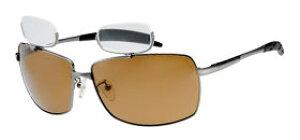 偏光サングラス 上部 老眼鏡付 遠近両用メガネ おしゃれ ブラウン偏光レンズ 釣り メガネケース付 男性用 女性用 シニアグラス 釣り仕掛け