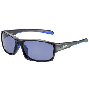 偏光サングラス 釣り 偏光度99% UVカット ドライブ スポーツ メガネケース付 TRソフトフレーム BT-1B スモーク偏光レンズ M.ブラック/ネイビー