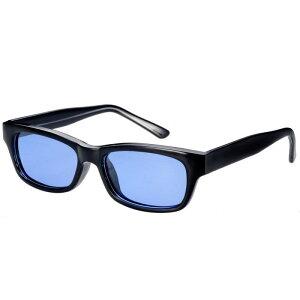 偏光サングラス 釣り 偏光機能 UVカット ドライブ スポーツ メガネケース付 薄い色 ライトカラーレンズ FM-1B ライトブルー偏光ARコートレンズ ブラック/クリアー