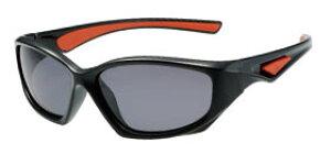 偏光サングラス 子供 釣り 偏光度99% メガネケース付 SJ-1Cスモーク偏光 ブラック レッド