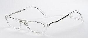 老眼鏡 正規品 クリックリーダー エクスパンダブル Lサイズ 磁石 おしゃれ 新色クリアー