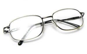 老眼鏡 シニアグラス おしゃれ メガネケース付 男性用 シンプル 頑丈 丈夫 フルリム メタルフレーム スクエア型 フォーマル ビジネスオフィス 40代 50代 新聞 辞書 読書用メガネ リーディング