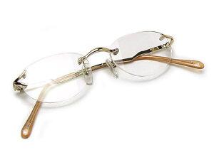 老眼鏡 シニアグラス おしゃれ メガネケース付 女性用 シンプル フチなしツーポイント メタル 丸型 オーバル フォーマル ビジネス オフィス 40代 50代 新聞 辞書 読書用メガネ リーディンググ