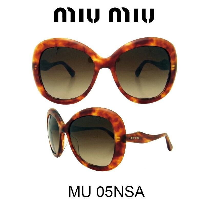 【国内正規品】MIU MIU ミュウミュウ サングラス MU05NSA HAJ6S1 人気モデル UVカット おしゃれ かわいいサングラス レディース uvカット
