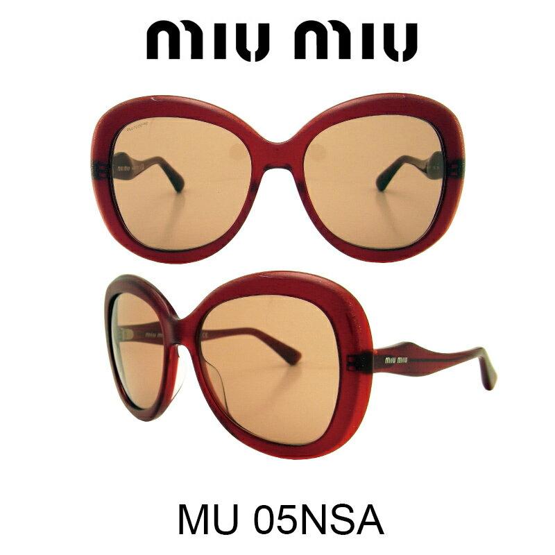 【国内正規品】MIU MIU ミュウミュウ サングラス MU05NSA HAW1P1 人気モデル UVカット おしゃれ かわいいサングラス レディース uvカット