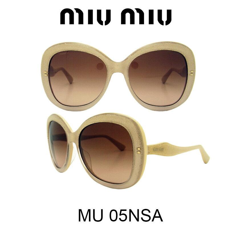 【国内正規品】MIU MIU ミュウミュウ サングラス MU05NSA HAX1Z1 人気モデル UVカット おしゃれ かわいいサングラス レディース uvカット