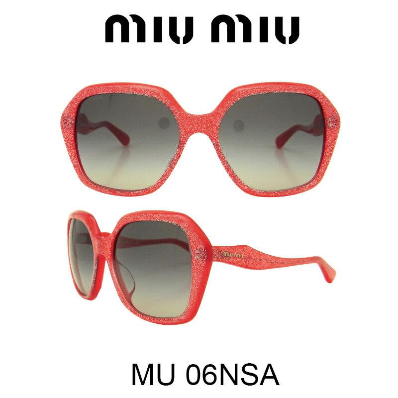 【国内正規品】MIU MIU ミュウミュウ サングラス MU06NSA HAK3M1 人気モデル UVカット おしゃれ かわいいサングラス レディース uvカット