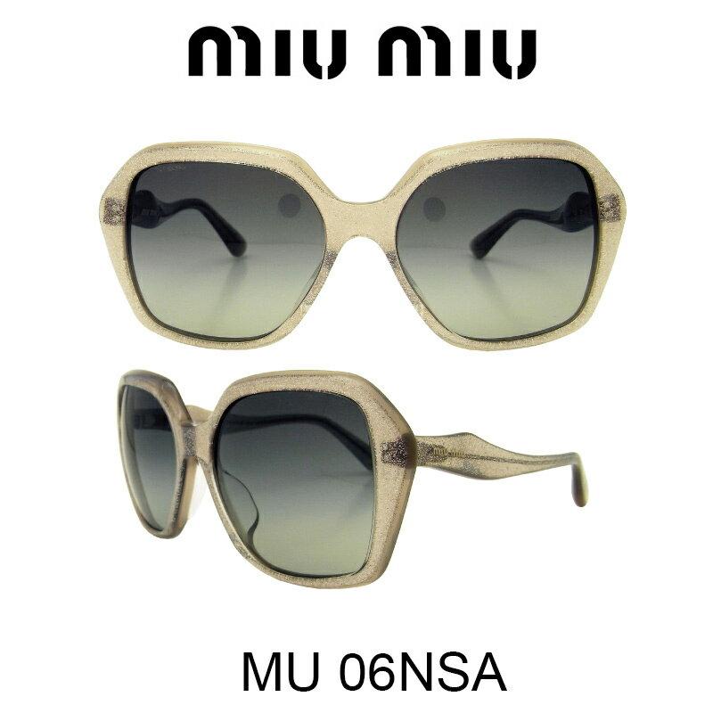 【国内正規品】MIU MIU ミュウミュウ サングラス MU06NSA HAL3M1 人気モデル UVカット おしゃれ かわいいサングラス レディース uvカット