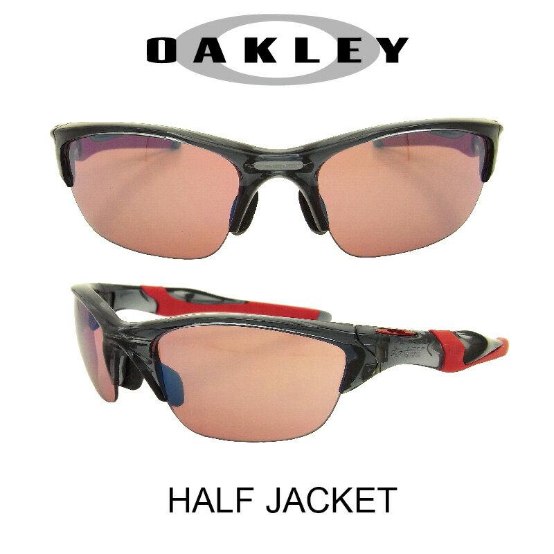 【国内正規品】(アジアンフィット)OAKLEY オークリー サングラス ハーフジャケット クリスタルブラック/G30イリジウム 野球 ゴルフ(Sunglasses HALF JACKET 9153-11 Crystal Black/G30 Iridium)