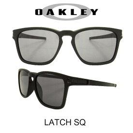 OAKLEY オークリー サングラス (アジアンフィット) ラッチスクウェア マットブラック/グレー 野球 ゴルフ(Sunglasses LATCH-SQ 9358-01 Matte Black/Gray)