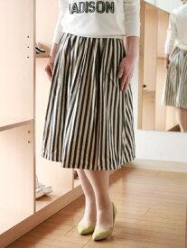 【 SALE 】 DOUBLE STANDARD CLOTHING (ダブル スタンダード クロージング ダブスタ ダブ)ストライプ タフタ スカート
