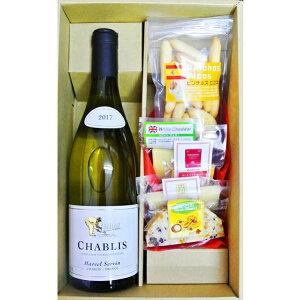 ワインギフト  シャブリ・プライベート 白 &ピコス&チーズ5種詰め合わせ