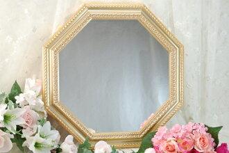 八角形鏡子金色的牆牆