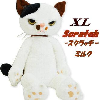 抓猫 XL 大小毛绒猫奶猫玩具猫图案