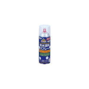 【アサヒペン】防水塗料 スプレー 透明(クリア) 420ml 【木製品】