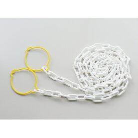 【送料無料】【ミツギロン】SF-30-W カットチェーン 2.0m 6mm 白 白・ホワイト JAN:4978684085353 【路上安全用品/区画整備用品/道路保安用品/】