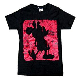 Tシャツ メンズ レディース ミッキーじゃないよ ディズニーパロディ ホラー オカルト 血糊 恐怖 ブラッディ プリント