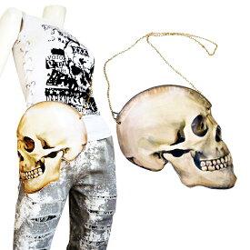 2着で5千円さらに送料無料バッグデザイナーズアイテムゴシックMIXスカルショルダーバッグパーティバッグ髑髏骸骨ROCK