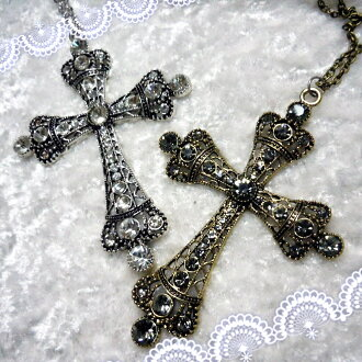 Accessories of necklace Rosary Chinese holly Ino cent size grain cross Gothic romance rhinestone sister church origin