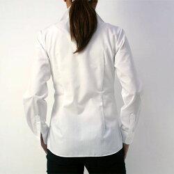 軽井沢シャツ[P31KZA002]レディスシャツ半袖形態安定ホワイト系無地ブロードスキッパーカラー定番ホワイトブロードビジネス就職活動【楽ギフ_包装選択】【RCP】