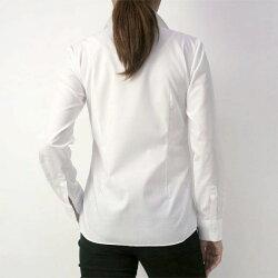 レディースシャツ長袖軽井沢シャツ[P31KZA332]定番ホワイトブロードリクルート形態安定形態安定標準型【RCP】