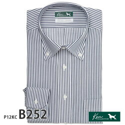 ワイシャツ長袖形態安定メンズ標準KENCOLLECTION本縫い仕様[P12S1KC01]