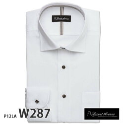 ワイシャツ長袖形態安定メンズスリムLucentAvenueビッグパターンシャツ[P12S1LA01]