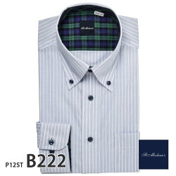ワイシャツ長袖形態安定メンズスリムSt.Moderns別生地[P12S1ST03]
